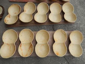 のらちん工房の陶器:小皿