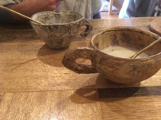 陶器、カプチーノカップ