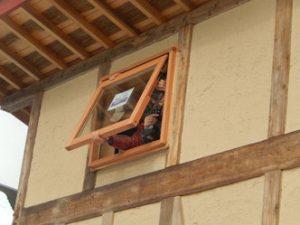 のらちん工房の木製サッシ:掃き出し窓